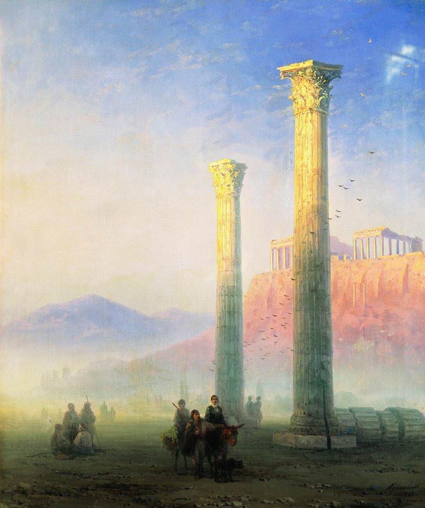 афинский акрополь 1883