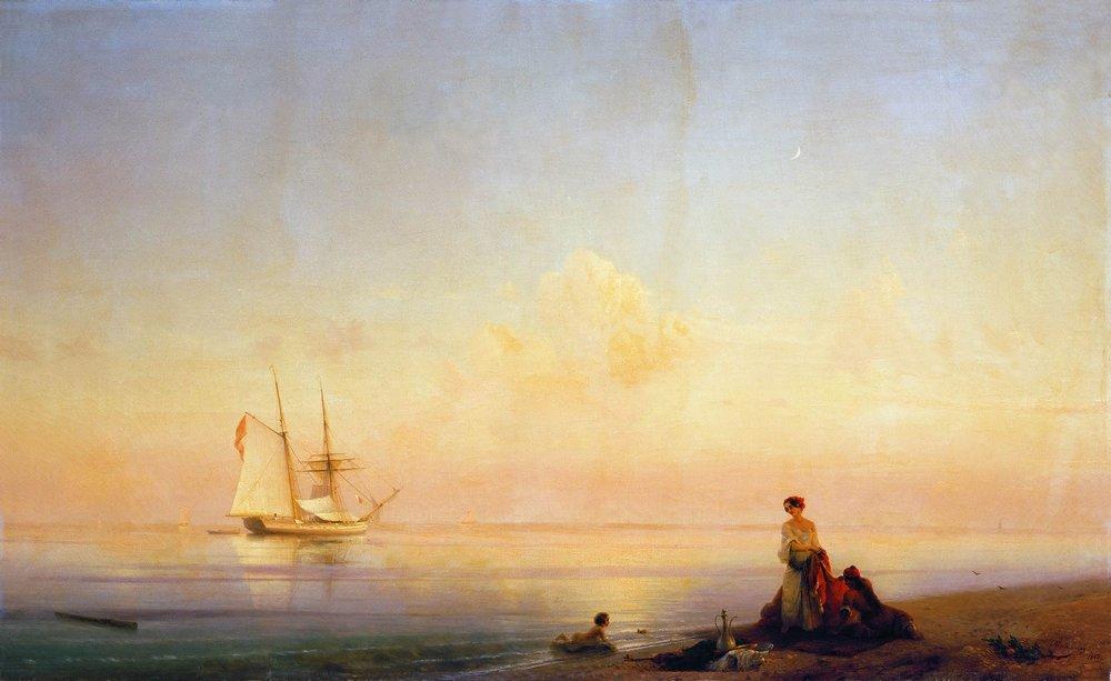 берег моря. штиль 1843