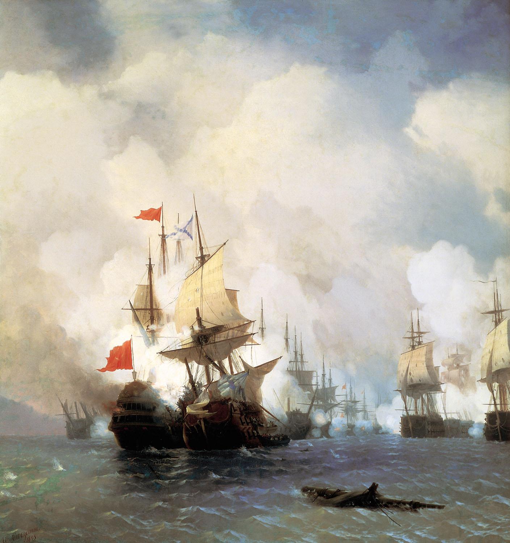 бой в хиосском проливе 24 июня 1770 (1848)