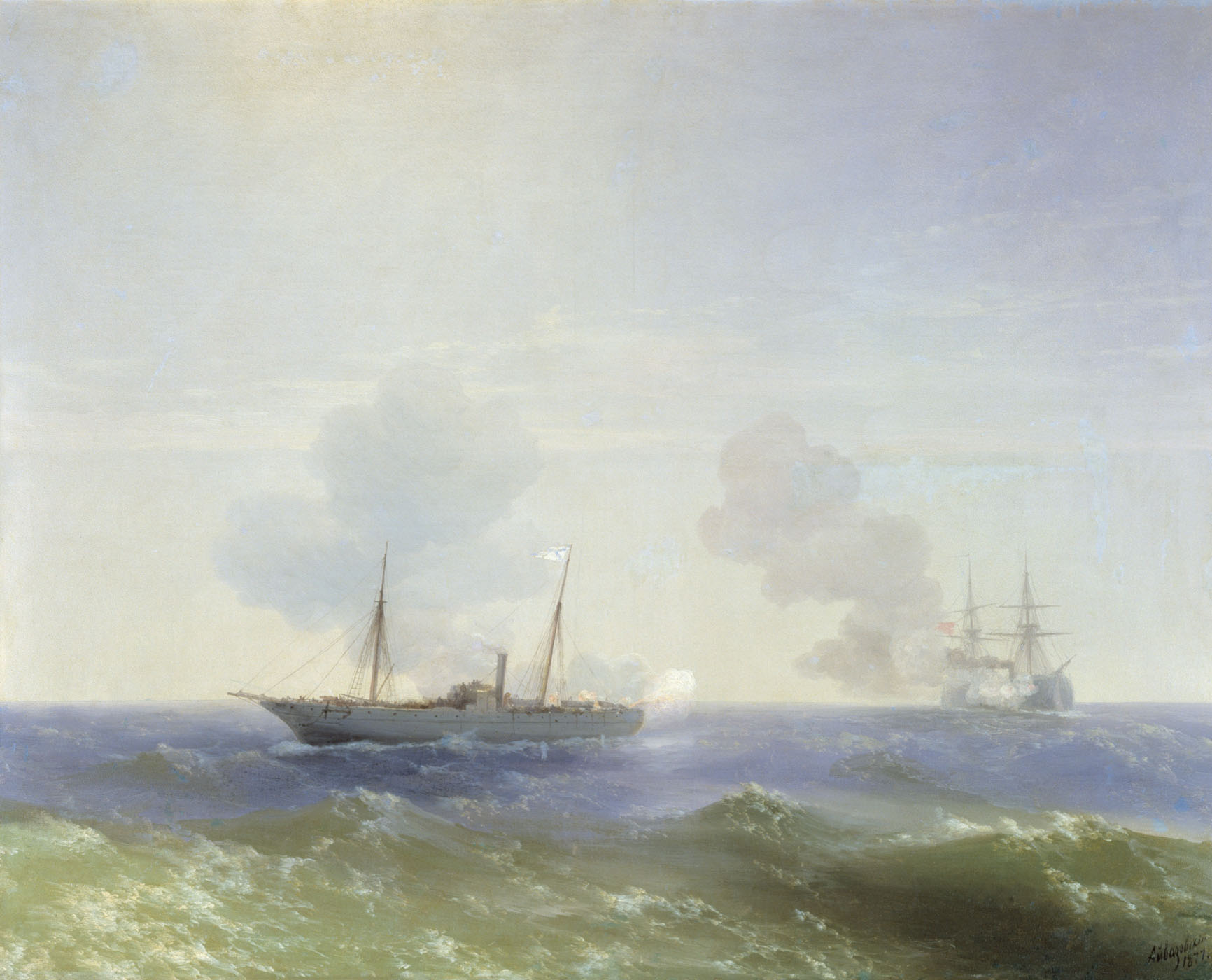 бой парохода веста с турецким броненосцем фехти буленд в черном море 11 июля 1877
