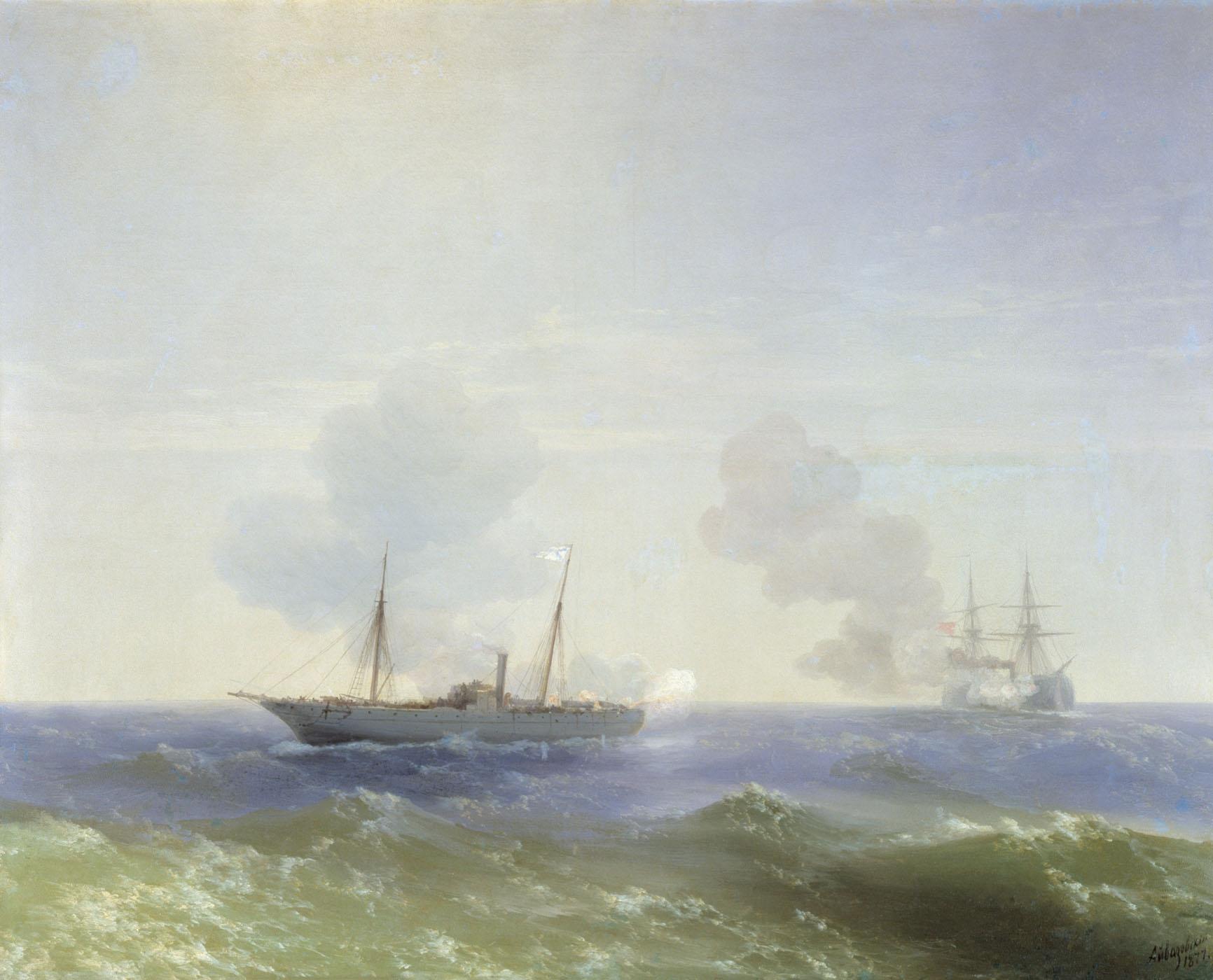 бой парохода веста с турецким броненосцем фехти буленд 11 июля 1877