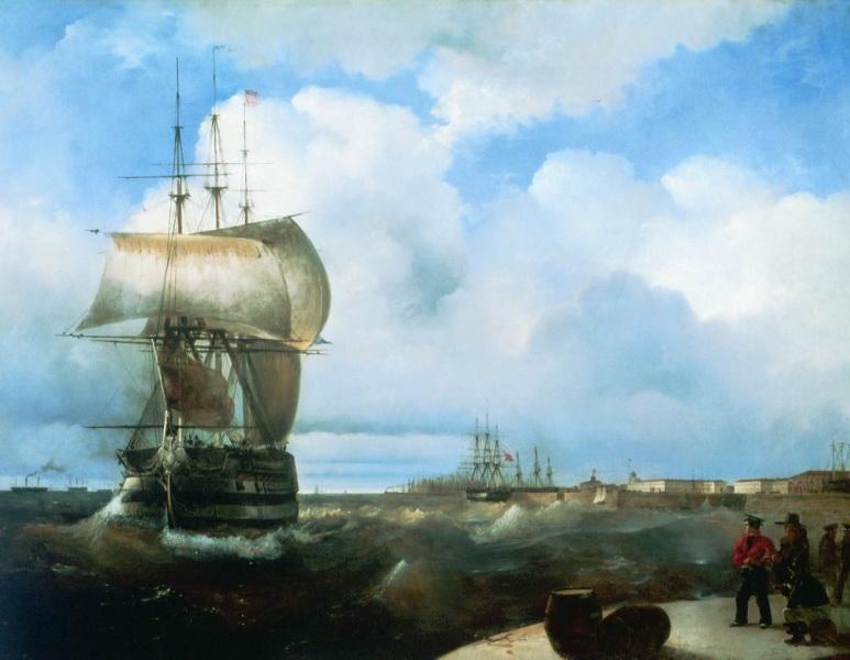 большой рейд в крондштадте 1836