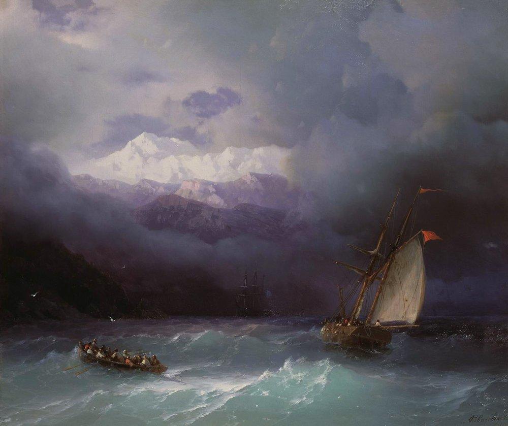 бурное море 1868