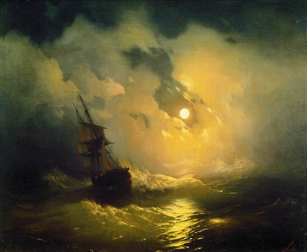 буря на море ночью 1849