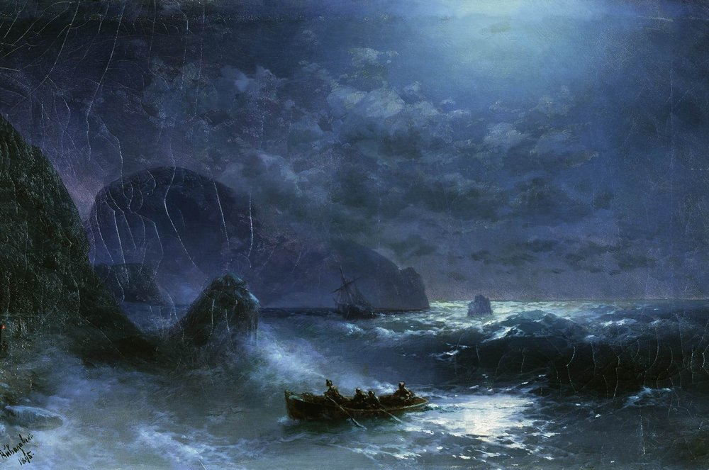 буря на море ночью 1895
