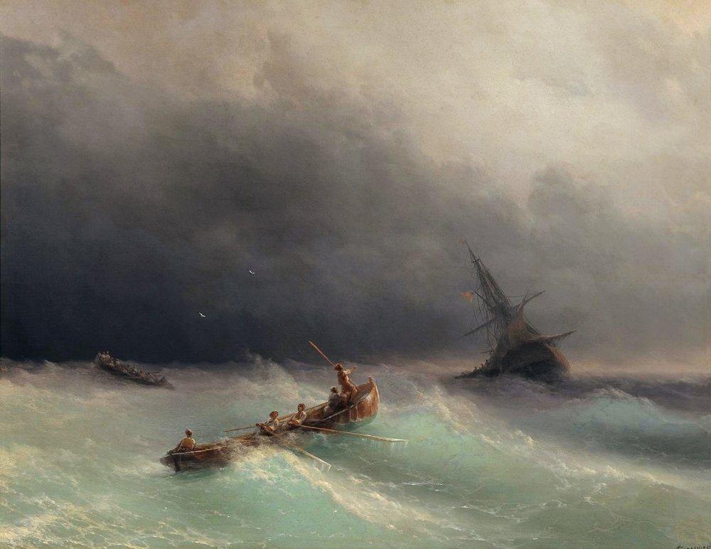 буря на море 1873