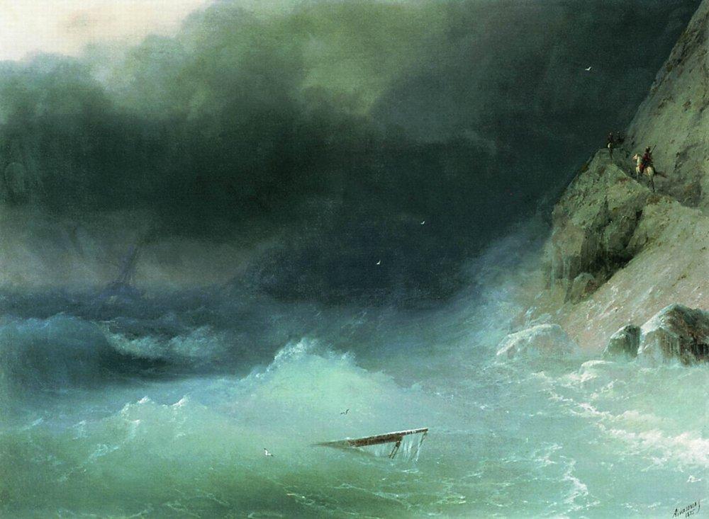 буря у скалистых берегов 1875