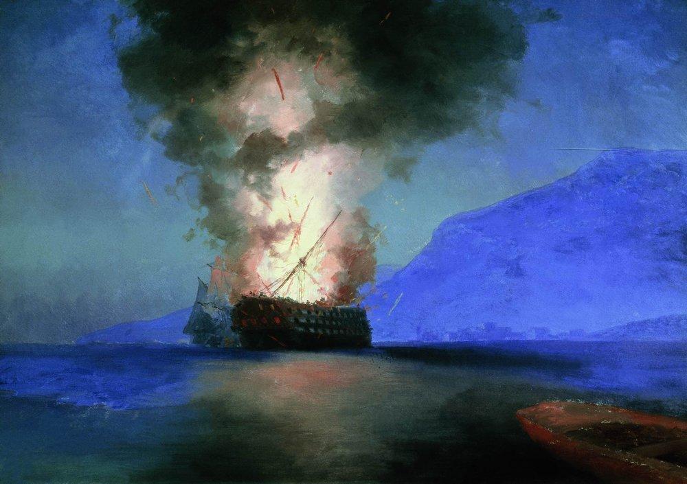 взрыв турецкого корабля 1900
