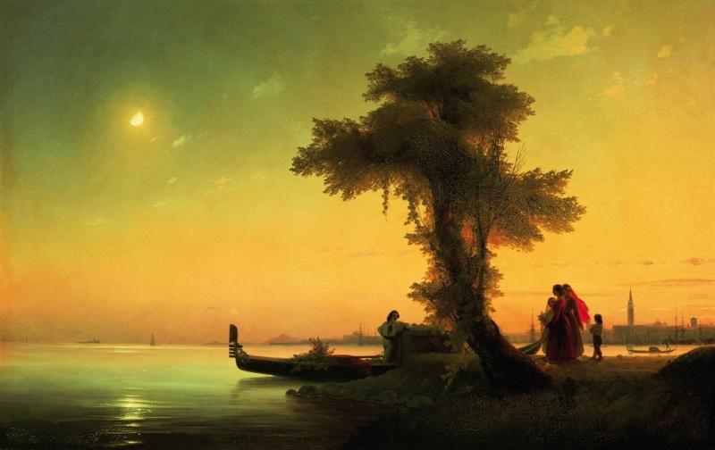 вид на венецианскую лагуну 1841