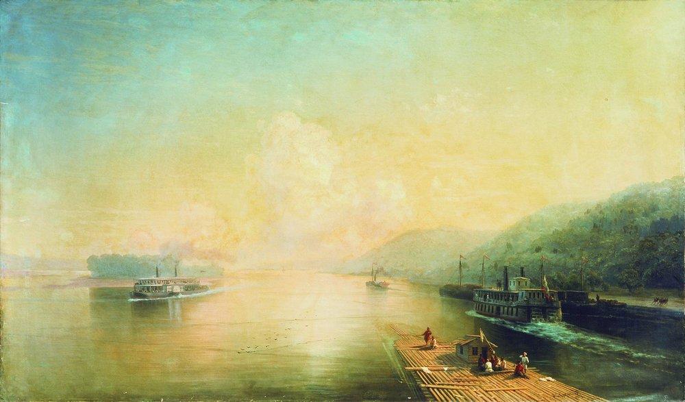 волга у жигулевских гор 1887