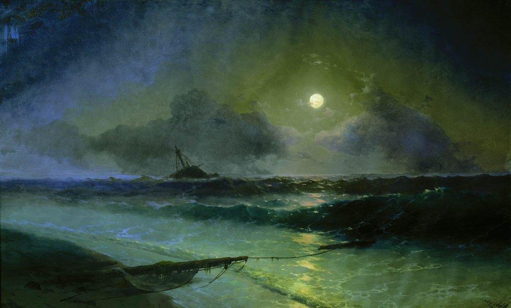 восход луны в феодосии 1892