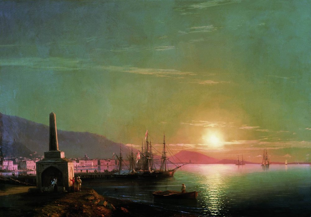 восход солнца в феодосии 1855