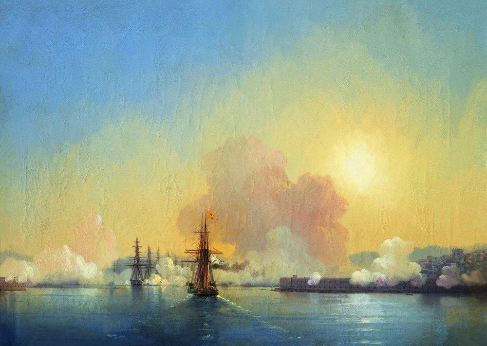 вход в севастопольскую бухту 1852