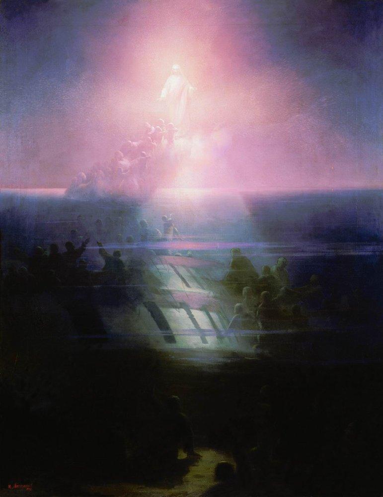 гибель корабля лефорт. аллегорическое изображение 1858