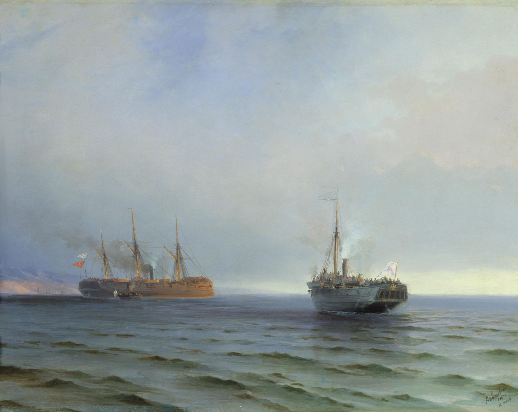 захват пароходом россия турецкого военного транспорта мессина 1877