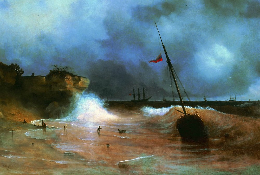 конец бури на море 1893