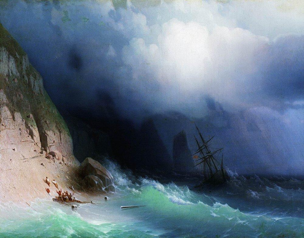 кораблекрушение у скал 1870