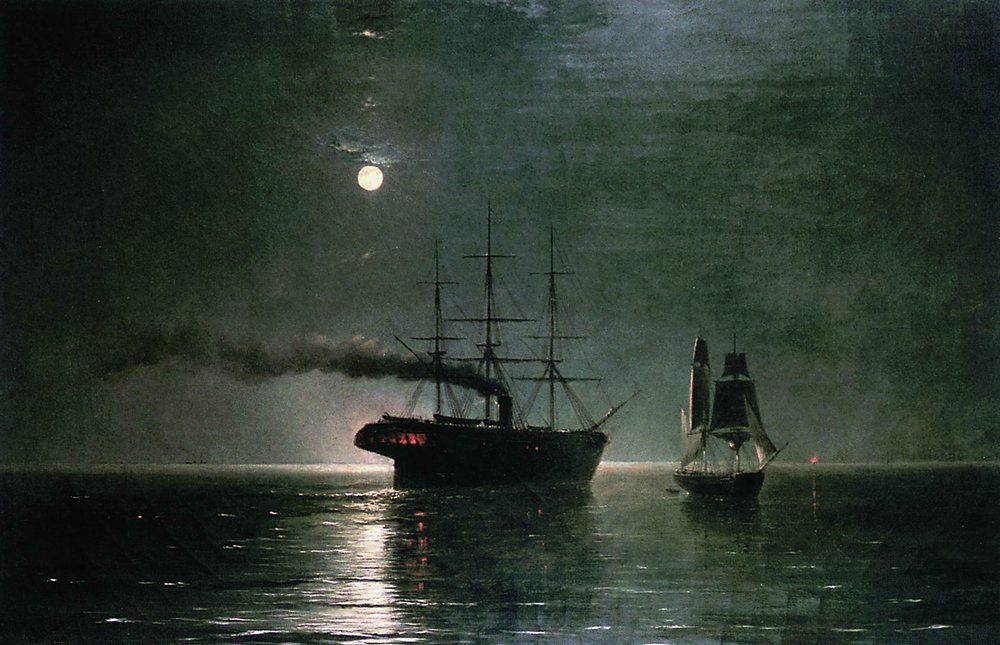 корабли в ночной тишине 1888