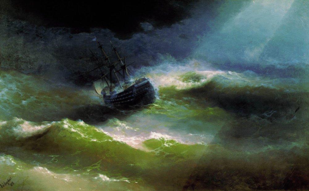 корабль императрица мария во время шторма 1892