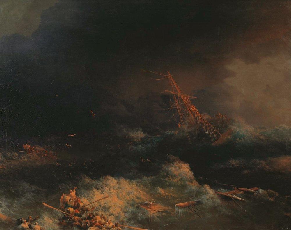 крушение корабля ингерманланд в скагерране в ночь на 30 авг. 1842 (1876)