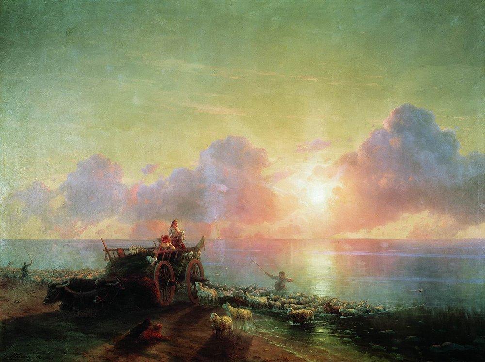 купание овец 1878