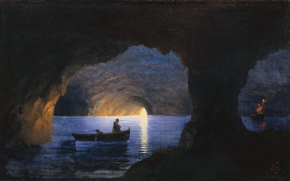 лазоревый грот. неаполь 1841