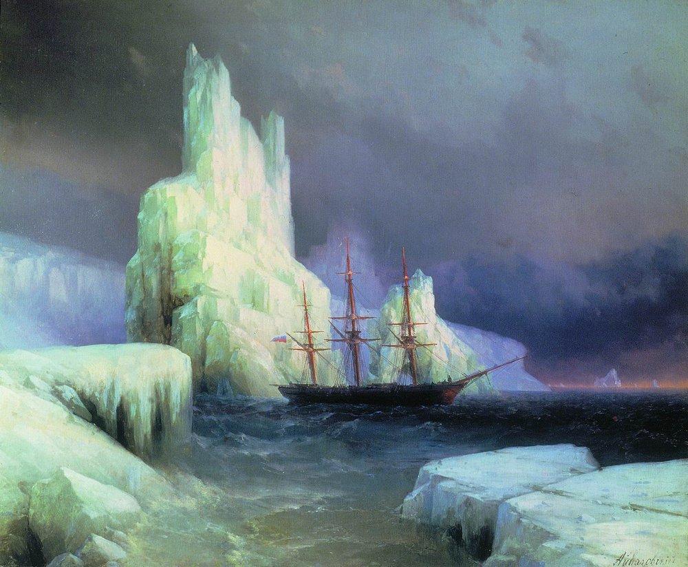 ледяные горы в антарктиде 1870