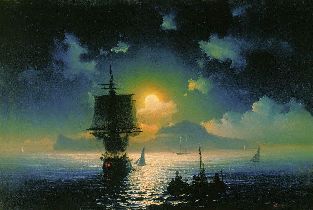 лунная ночь на капри 1841