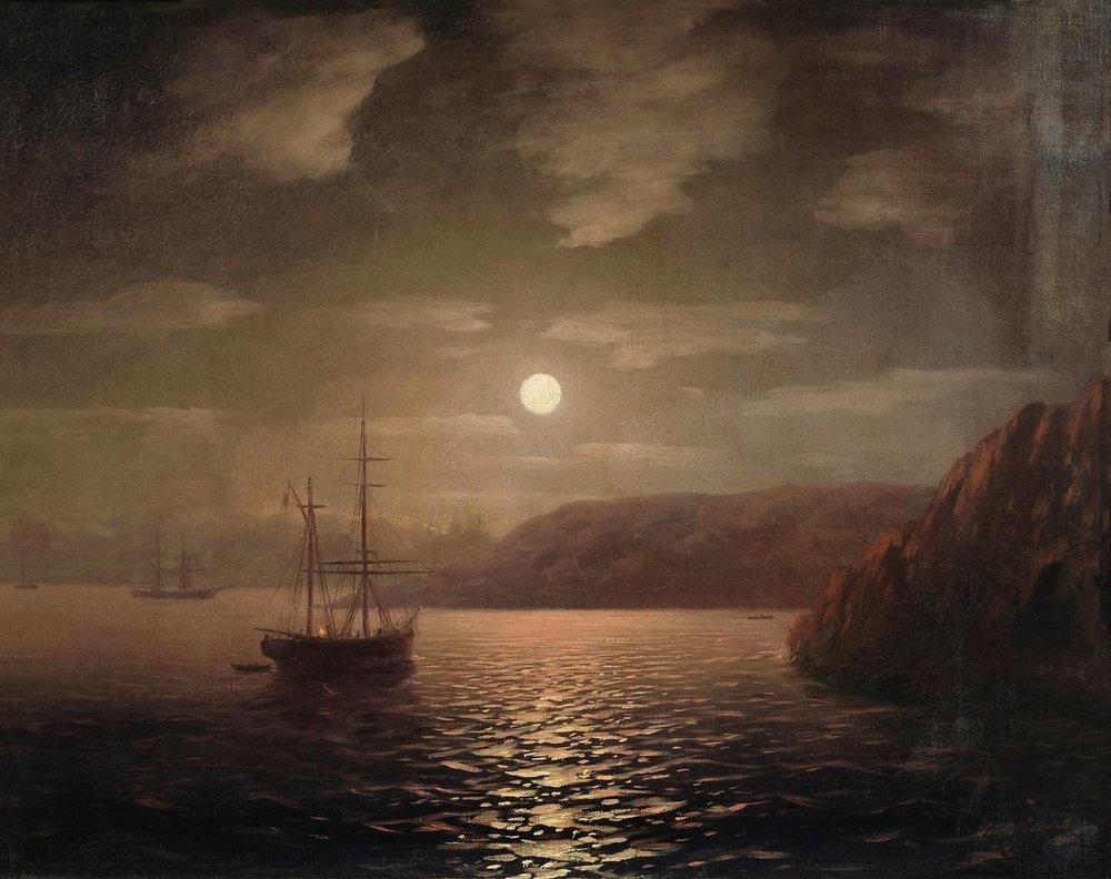лунная ночь на черном море 1855