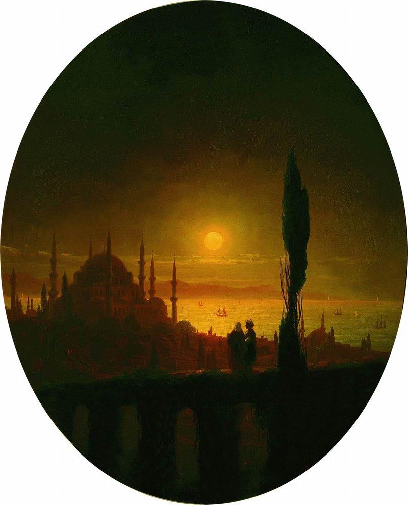 лунная ночь у взморья 1847