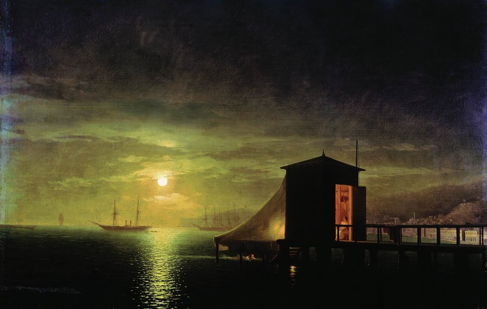 лунная ночь. купальня в феодосии 1853