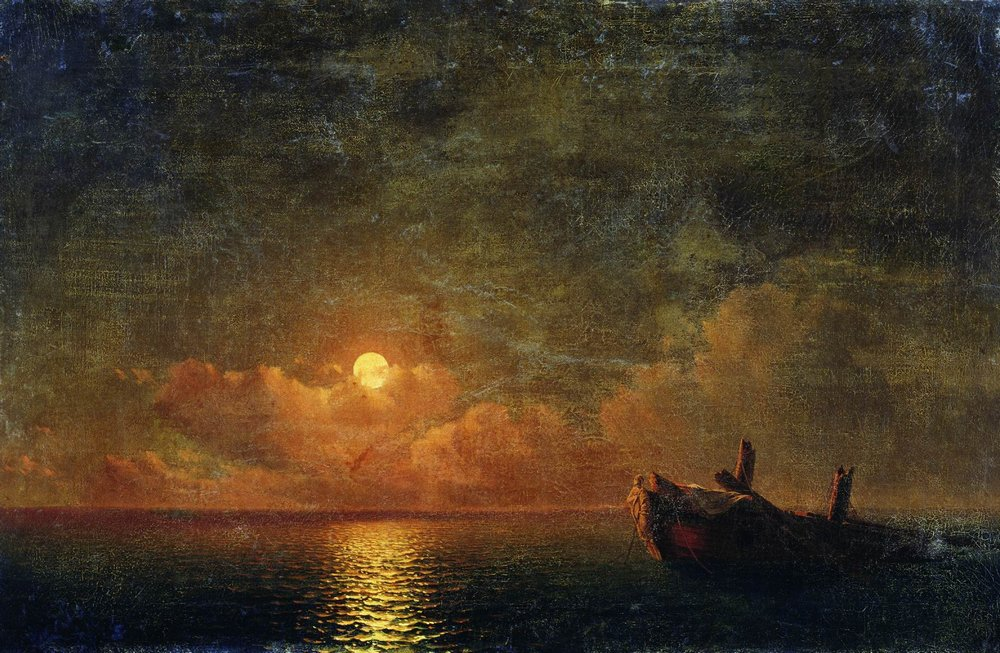 лунная ночь. разбитый корабль 1871