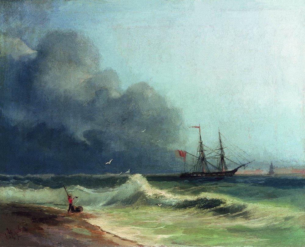 море перед бурей 1856