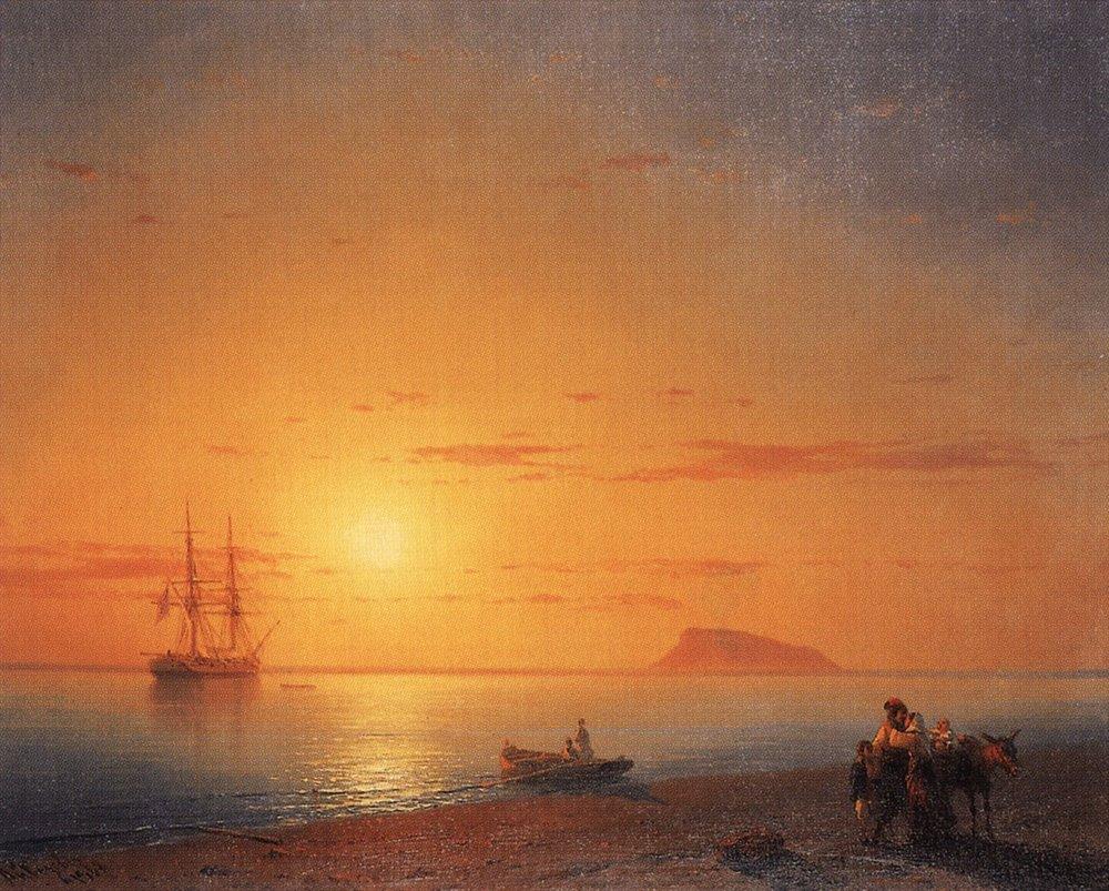 морской берег. прощание 1868