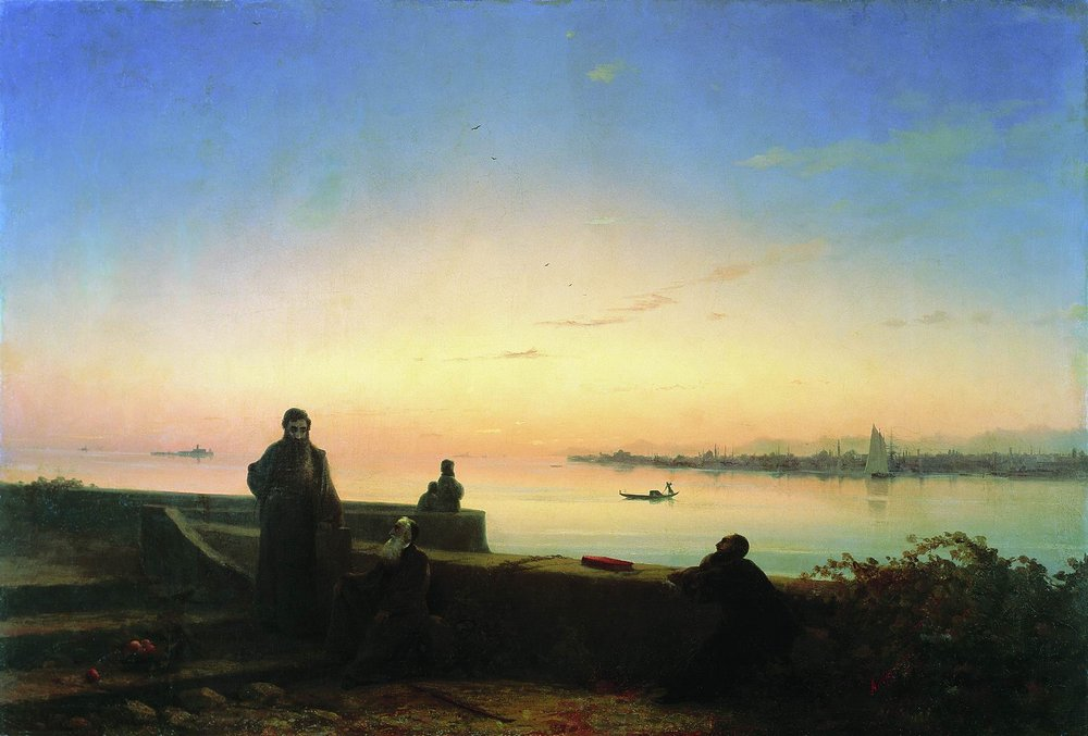 мхитаристы на острове св. лазаря. венеция 1843