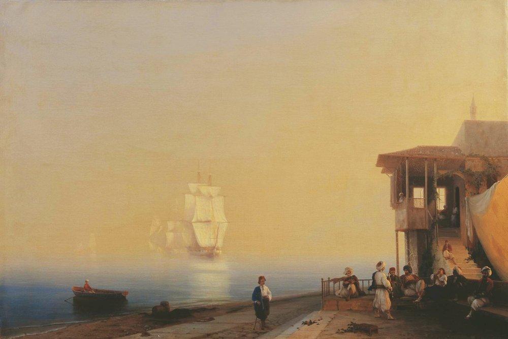 набережная восточного города 1852