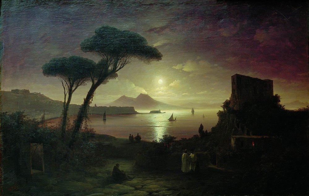 неаполитанский залив в лунную ночь 1842