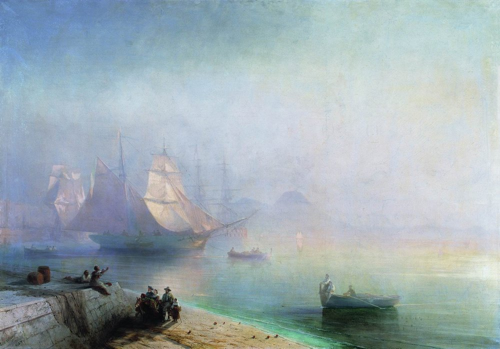 неаполитанский залив в туманное утро 1874