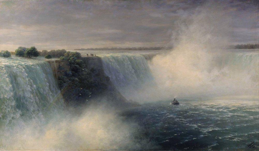 ниагарский водопад 1892
