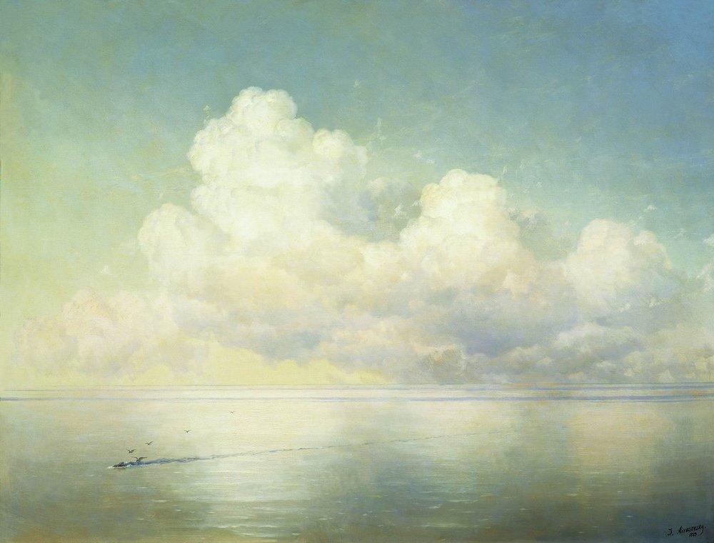 облака над морем. штиль 1889