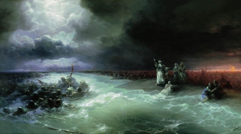 переход евреев через красное море. 1891