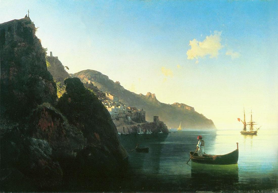 побережье в Альмафи 1841