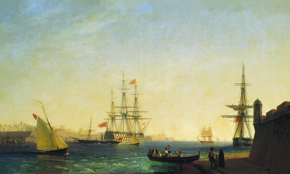 порт ла валетта 1844