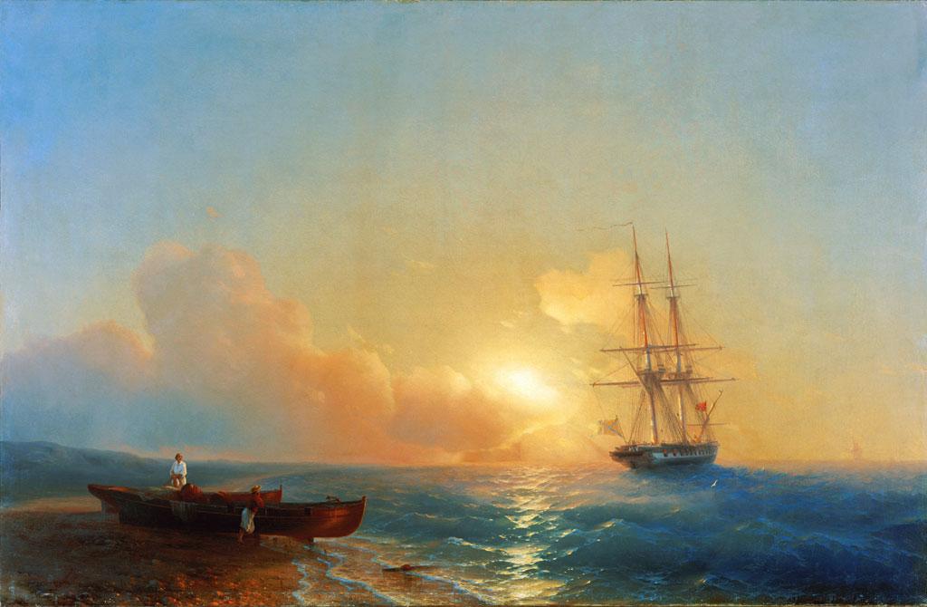 рыбаки на берегу моря 1852