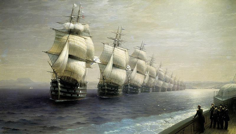 смотр черноморского флота в 1849 г. (1886)