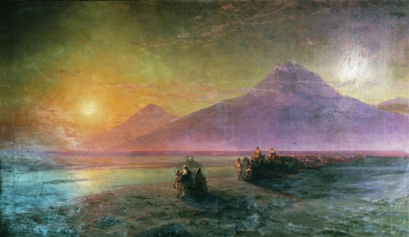 сошествие ноя с горы арарат 1870