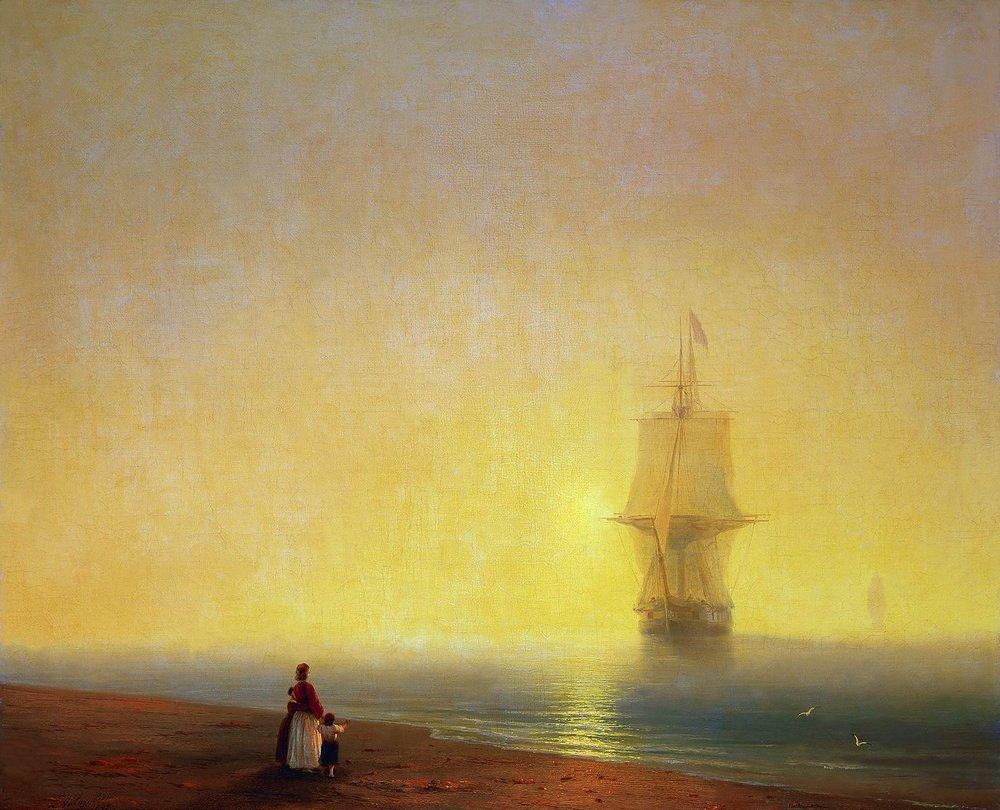 утро на море 1849