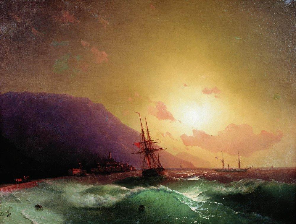 у берегов ялты 1864