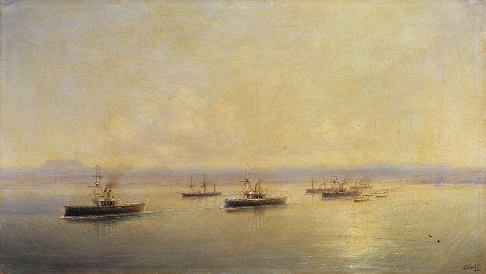 флот в виду севастополя 1890