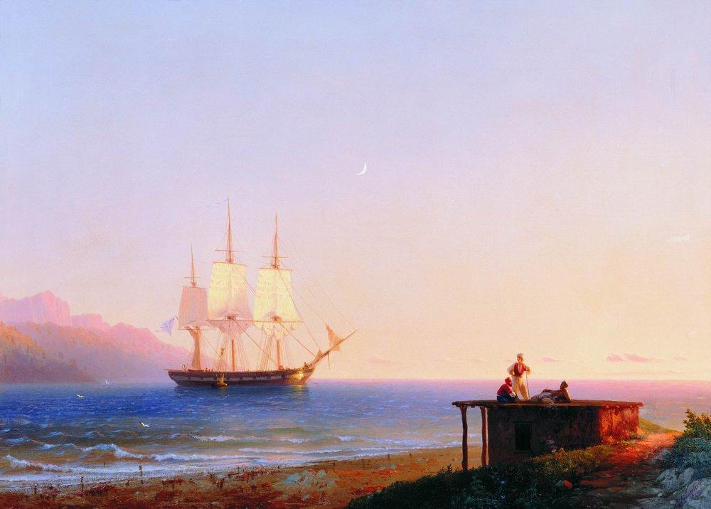 фрегат под парусом 1838